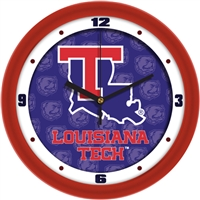 "Louisiana Tech Bulldogs 12"" Wall Clock - Dimension"