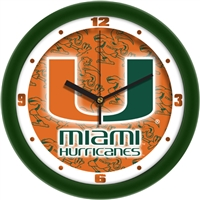 "Miami Hurricanes 12"" Wall Clock - Dimension"