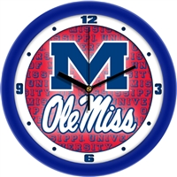 "Ole Miss Rebels 12"" Wall Clock - Dimension"