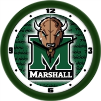 "Marshall Thundering Herd 12"" Wall Clock - Dimension"