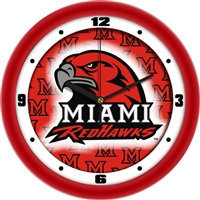 "Miami (Ohio) Redhawks 12"" Wall Clock - Dimension"