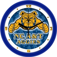 "North Carolina A&T Aggies 12"" Wall Clock - Dimension"