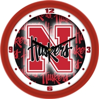 "Nebraska Cornhuskers 12"" Wall Clock - Dimension"
