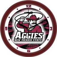 "New Mexico State Aggies 12"" Wall Clock - Dimension"