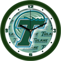 "Tulane Green Wave 12"" Wall Clock - Dimension"