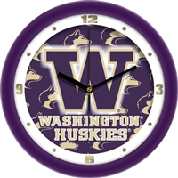 "Washington Huskies 12"" Wall Clock - Dimension"