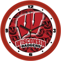 "Wisconsin Badgers 12"" Wall Clock - Dimension"