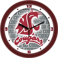 "Washington State Cougars 12"" Wall Clock - Dimension"