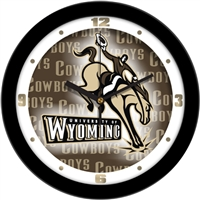 "Wyoming Cowboys 12"" Wall Clock - Dimension"