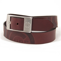 Chicago Cubs MLB Men's Embossed Leather Belt