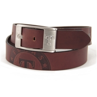 Texas Rangers MLB Men's Embossed Leather Belt