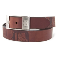 Detroit Tigers MLB Men's Embossed Leather Belt