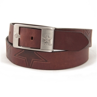 Dallas Cowboys NFL Men's Embossed Leather Belt
