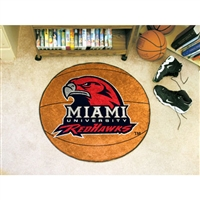 Miami Ohio Redhawks NCAA Basketball Round Floor Mat (29)