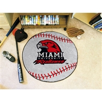 Miami Ohio Redhawks NCAA Baseball Round Floor Mat (29)