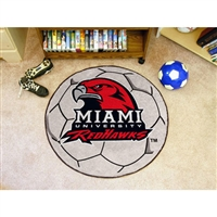 Miami Ohio Redhawks NCAA Soccer Ball Round Floor Mat (29)