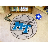 Middle Tennessee State Blue Raiders NCAA Soccer Ball Round Floor Mat (29)