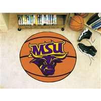 Minnesota State Mankato Mavericks NCAA Basketball Round Floor Mat (29)