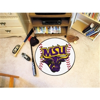 Minnesota State Mankato Mavericks NCAA Baseball Round Floor Mat (29)
