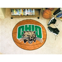 Ohio Bobcats NCAA Basketball Round Floor Mat (29)