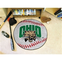 Ohio Bobcats NCAA Baseball Round Floor Mat (29)