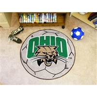 Ohio Bobcats NCAA Soccer Ball Round Floor Mat (29)