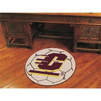 Central Michigan Chippewas NCAA Soccer Ball Round Floor Mat (29)