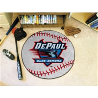 DePaul Blue Demons NCAA Baseball Round Floor Mat (29)