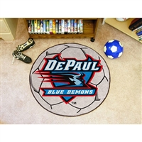 DePaul Blue Demons NCAA Soccer Ball Round Floor Mat (29)