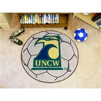 North Carolina Wilmington Seahawks NCAA Soccer Ball Round Floor Mat (29)