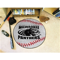 Wisconsin Milwaukee Panthers NCAA Baseball Round Floor Mat (29)
