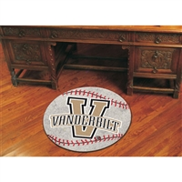 Vanderbilt Commodores NCAA Baseball Round Floor Mat (29)