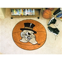 Wake Forest Demon Deacons NCAA Basketball Round Floor Mat (29)