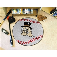 Wake Forest Demon Deacons NCAA Baseball Round Floor Mat (29)