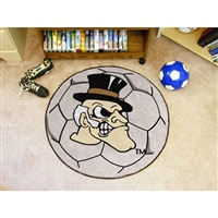 Wake Forest Demon Deacons NCAA Soccer Ball Round Floor Mat (29)