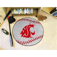 Washington State Cougars NCAA Baseball Round Floor Mat (29)