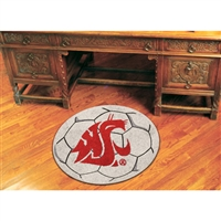 Washington State Cougars NCAA Soccer Ball Round Floor Mat (29)