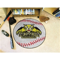 Western Carolina Catamounts NCAA Baseball Round Floor Mat (29)