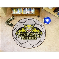 Western Carolina Catamounts NCAA Soccer Ball Round Floor Mat (29)
