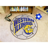 Western Illinois Leathernecks NCAA Soccer Ball Round Floor Mat (29)
