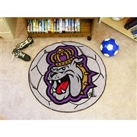 James Madison Dukes NCAA Soccer Ball Round Floor Mat (29)