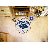 Nevada Reno Wolf Pack NCAA Soccer Ball Round Floor Mat (29)