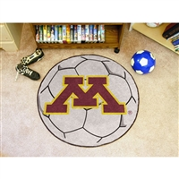 Minnesota Golden Gophers NCAA Soccer Ball Round Floor Mat (29)