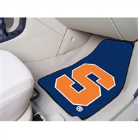 Syracuse Orangemen NCAA 2-Piece Printed Carpet Car Mats (18x27)