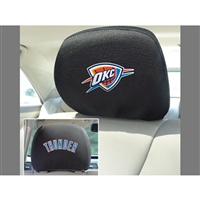 Oklahoma City Thunder NBA Polyester Head Rest Cover (2 Pack)