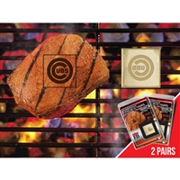 Chicago Cubs MLB Fan Brands Grill Logo(2 Pack)