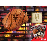 New York Mets MLB Fan Brands Grill Logo(2 Pack)
