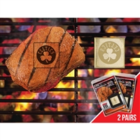 Boston Celtics NBA Fan Brands Grill Logo(2 Pack)