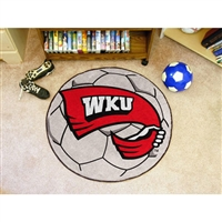 Western Kentucky Hilltoppers NCAA Soccer Ball Round Floor Mat (29)
