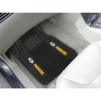 Green Bay Packers NFL Deluxe 2-Piece Vinyl Car Mats (20x27)